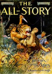 Tarzan's first appearance, in the October 1912 issue of The All-Story