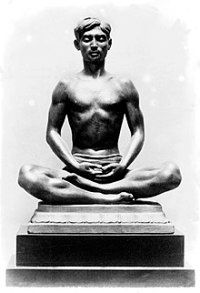 Bronze figure of a Yogi in Dhyana (meditation) by Malvina Hoffman